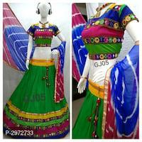 Cotton embroidered lehenga choli* #navarti special
