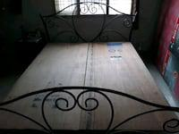 King size iton bed with strong ply base