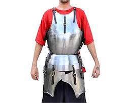 Armor maximilian gothic cuirass metallic one size - antiques