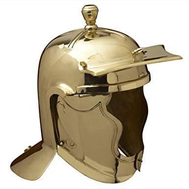 Roman cavalry helmet - brass - one size - antiques - by