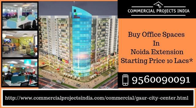 Gaur city center offers office spaces started 10 lacs