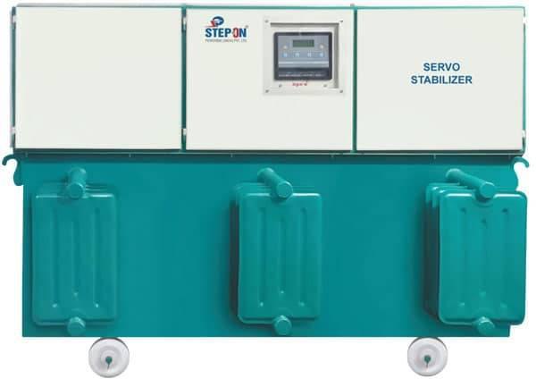 Three phase 60 kva servo voltage stabilizer at best price in