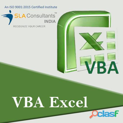 Get The Best VBA Macros Training Course in Gurgaon From SLA Consultants Gurgaon