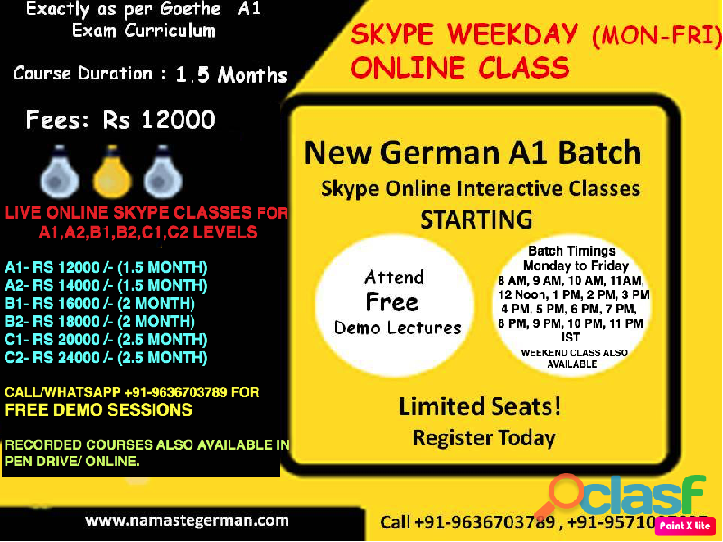 German online classes in India