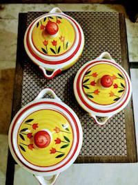Ceramic casserole set of 3