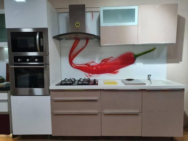 Modular kitchen, free chimney free hob - furniture - by