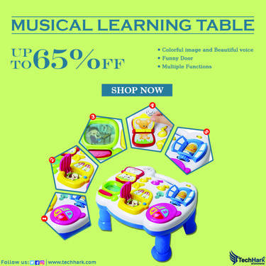Techhark Musical Learning Table for kids Baby Toys