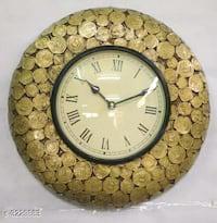Wooden wall decor clock
