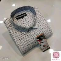 Shipping available ,divine trendy men's checkered shirt vol