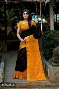 Bandhani printed cotton sarees with blouse piece