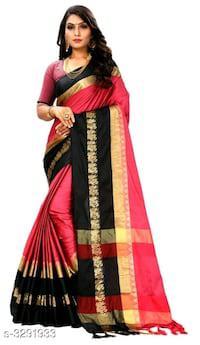 Fancy cotton silk women's saree