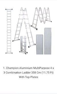 Aluminium ladder with rage carry bag