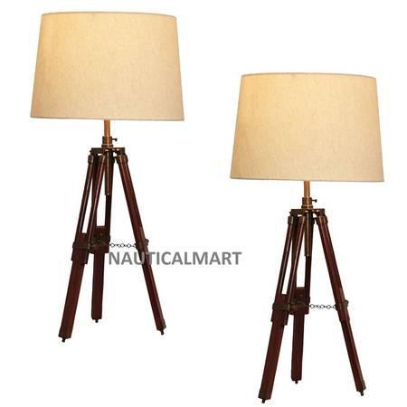 Urban Design Surveyor Tripod Table lamp - Set of 2 -