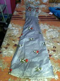 New grey floor dress