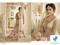 Faina Upstyle Satin Georgette Suits & Dress Materials Vol 1
