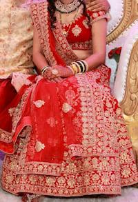 Red bridalwear lehenga