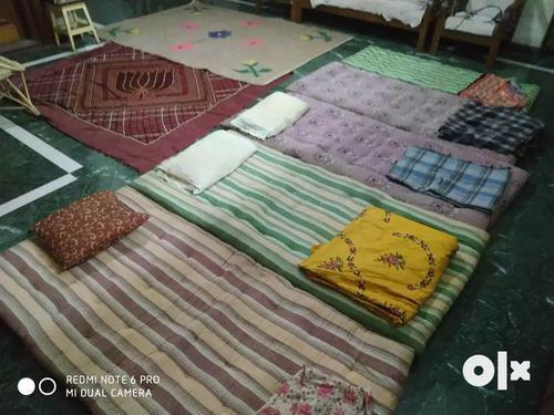 5 cotton beds 2 carpets 3 gymkhanas3 pillows5 rugs etc