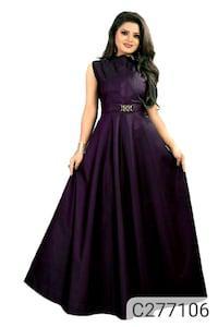 Delightful taffeta silk gown