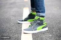 Men's White Synthetic Flat Sneaker Boots Size: UK6 UK7 UK8