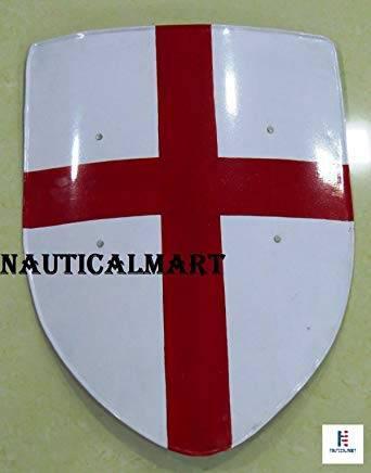 NAUTICALMART Medieval Crusades Shield - 16 Gauge Steel