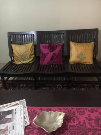 3 seater teak wood sofa - furniture - by owner