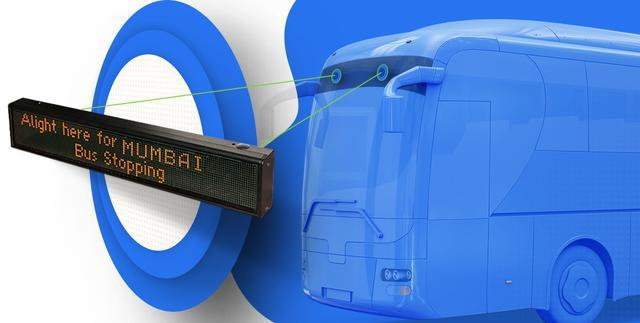 Buy led destination display board that helps passengers