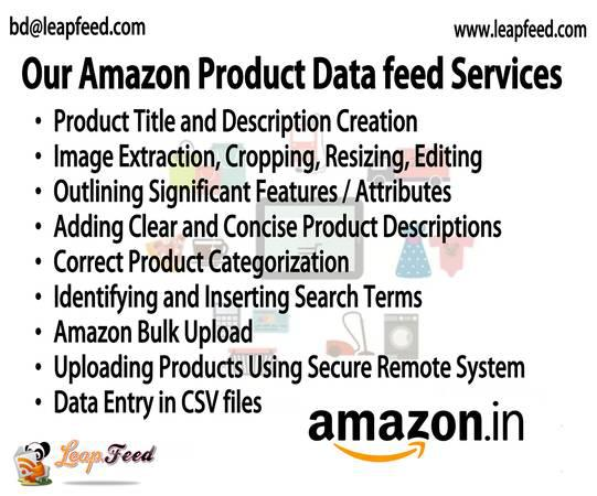 Amazon product listing and upload management services -