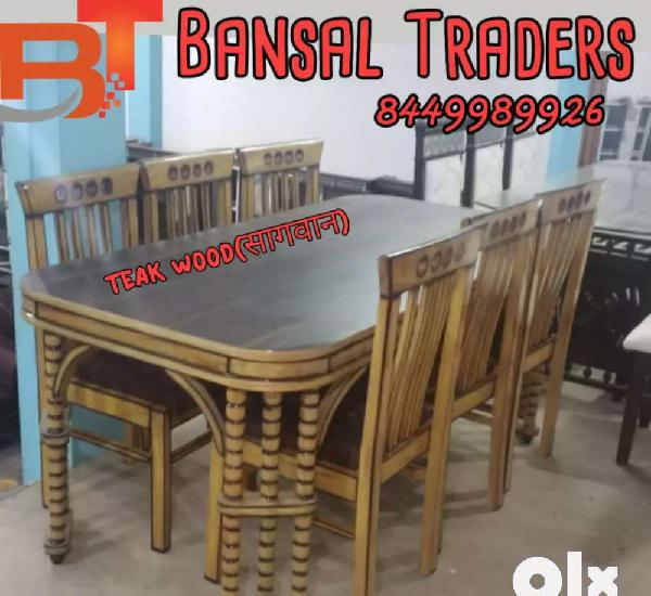 6 seater 100% teak wood dinning set