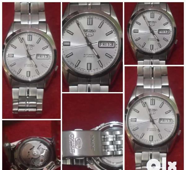 Seiko 5 automatic made in japan watch