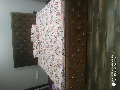 Solid wooden board king size bed