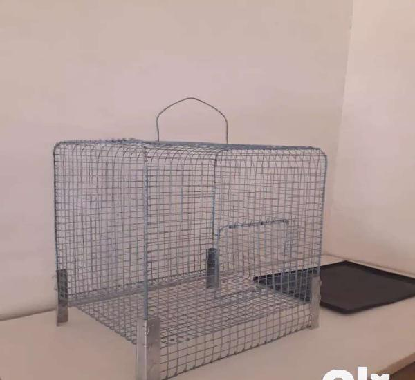 Steel cage for small pets 15 x 15 x 13 in