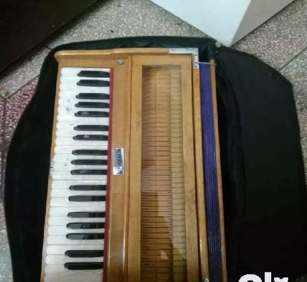Wooden harmonium with cover