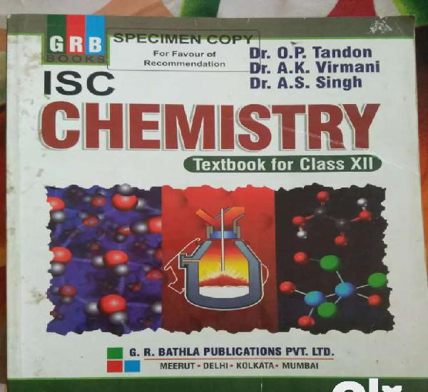 GRB ISC chemistry class 12