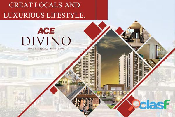 Ace divino noida extension | 2/3 bhk apartments @34.55 lac‎
