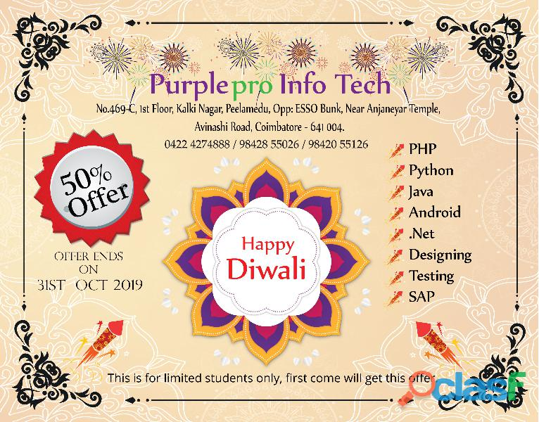 Diwali greetings from purplepro infotech!