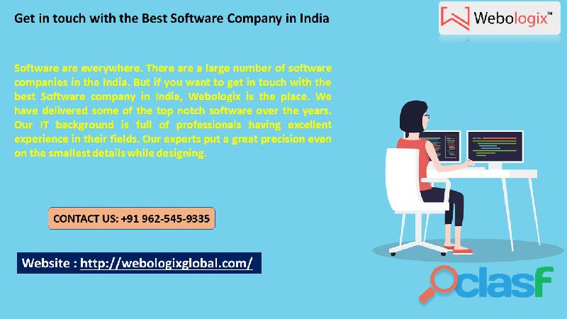 Get in touch with the best software company in india