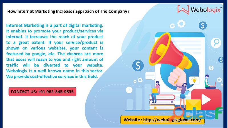 How internet marketing increases approach of the company?