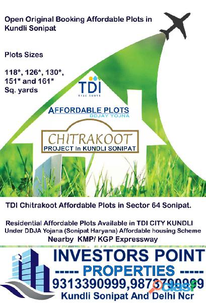 TDI Affordable Plots in Kundli Sonipat Original Booking Now 9313390999