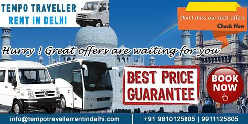 Book Tempo Traveller Rent in Delhi at best price -