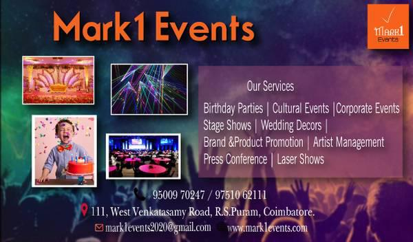 Mark1 | Best event management company in Coimbatore |