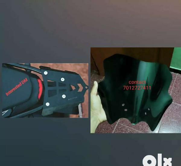 Duke 200 visor + back rack