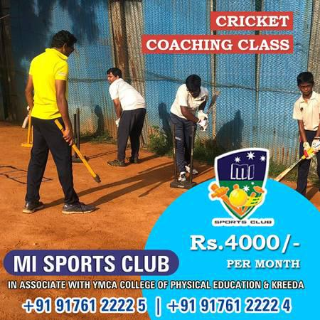 Best Cricket Coaching Centre in Chennai - lessons & tutoring