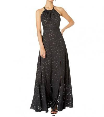 Bcbgmaxazria black double strap maxi dress - clothing &