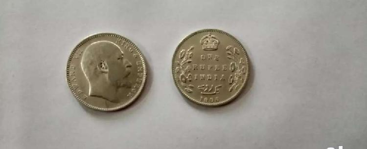Silver coin of year 1906 cash payment only