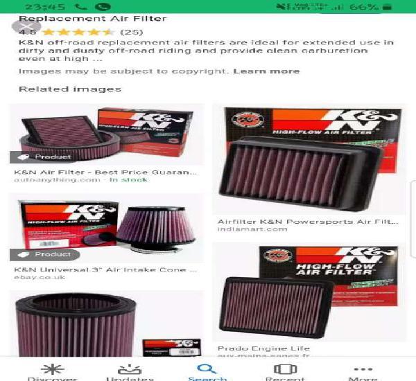 K and 9 bike air filter