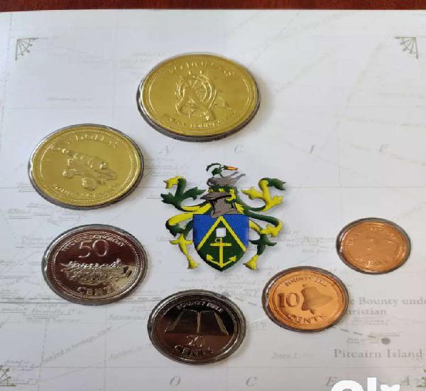 Pitcairn islands brilliant uncirculated coin set, unc set