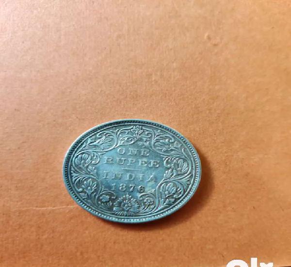 Victoria silver coin, 1876, good condition