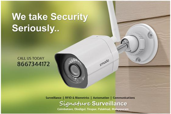 Cctv camera installation signature coimbatore