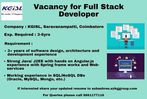 Senior full stack java/j2ee developer - software/qa/dba/etc