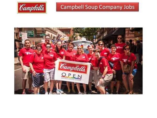 Sales representative need at campbell's soup company -